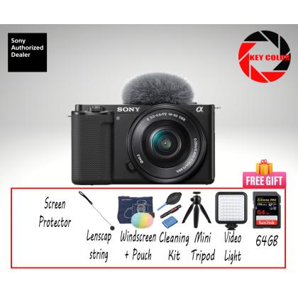 Sony ZV-E10 16-50mm Kit + Sandisk Extreme Pro 64GB + Screen Protector (Sony Malaysia Warranty)